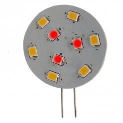 G4 Horizontal 9 LED Red & White (Side Pin)