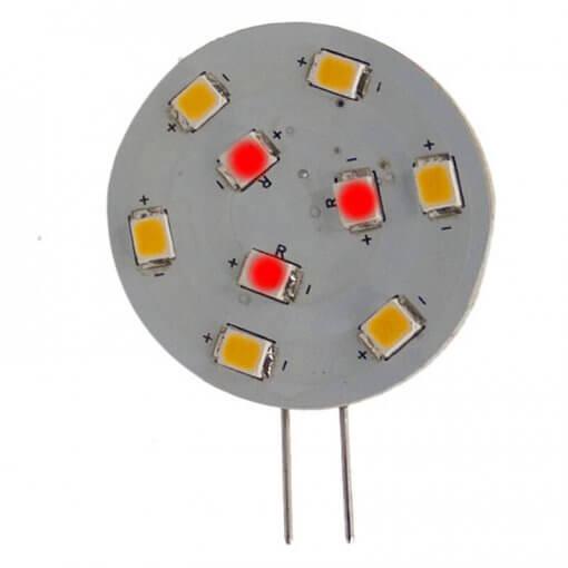 G4 Horizontal 9 LED Red & White (Side Pin)