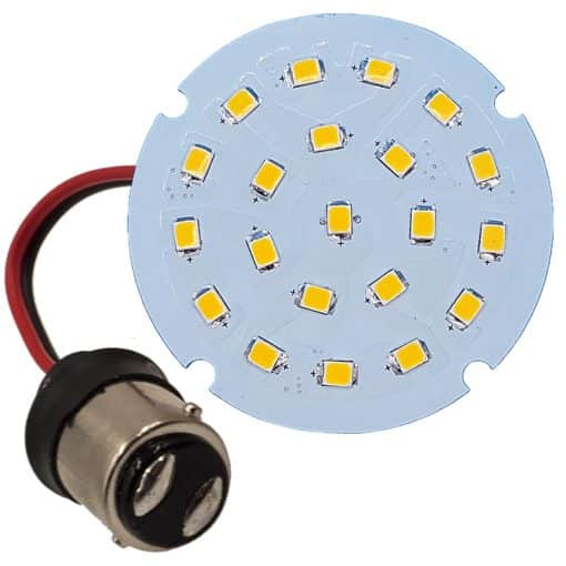 BA15D Wired 21 LED flat bulb