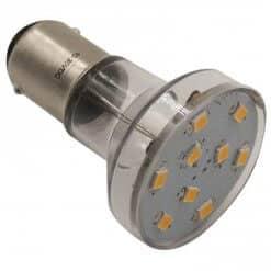 BA15S 9 LED Dimmable Spotlight style bulb