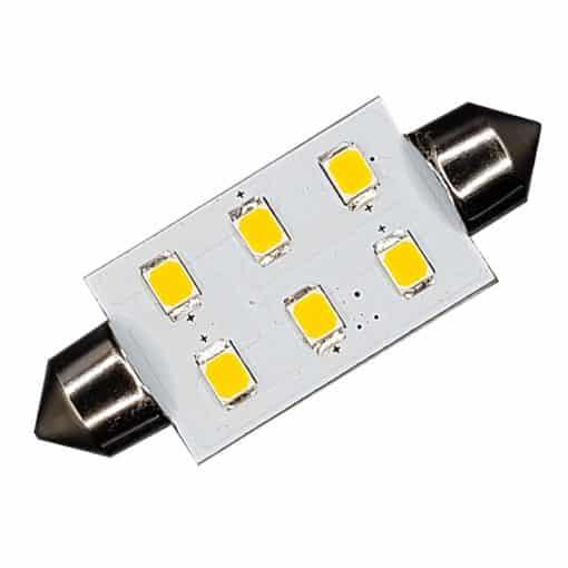 Festoon 42mm 6 LED bulb