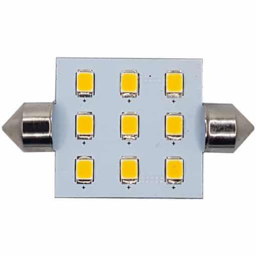Festoon 42mm 9 LED bulb