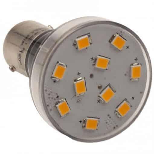 BA15S 10 LED Spotlight style bulb