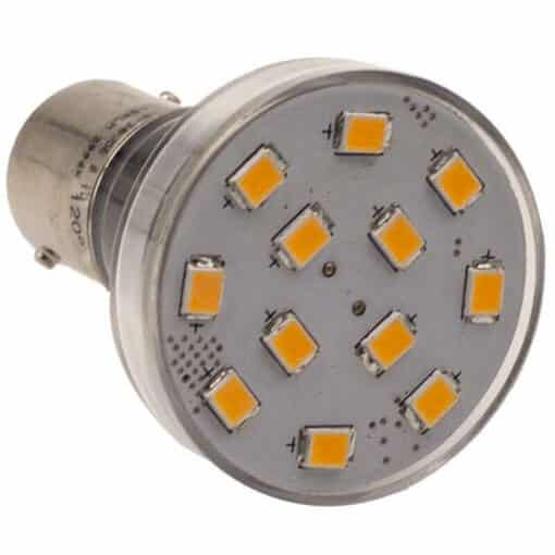 BA15S 12 LED Spotlight style bulb