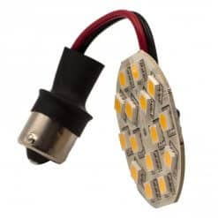 This is a BA15S Wired 15 LED flat bulb