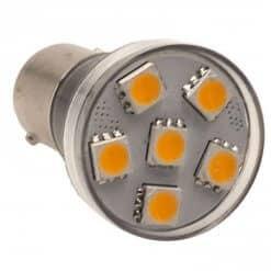 BA15S 6 LED Spotlight style bulb