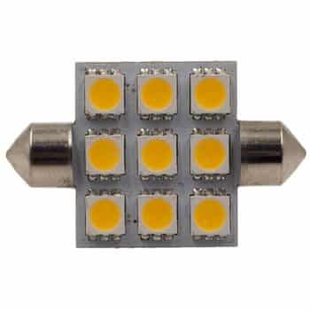 Festoon 42mm 9 LED bulb