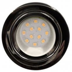 CAB12 downlight Chrome finish with replaceable 12 LED bulb, 12v/24v