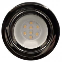 CAB8 downlight Chrome finish with replaceable 8 LED bulb, 12v/24v