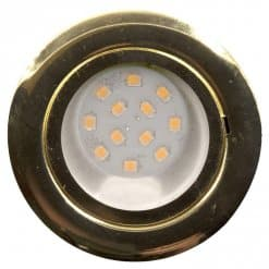 CAB12 downlight Brass finish with replaceable 12 LED bulb, 12v/24v