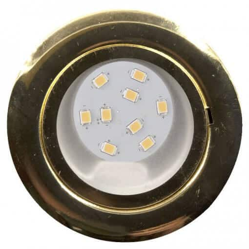 Cabinet Light in Brass finish with 9 LEDs