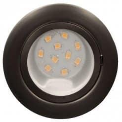 CAB10 downlight Satin Chrome with replaceable 10 LED bulb, 12v/24v