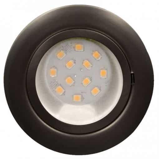 CAB12 downlight Satin Chrome with replaceable 12 LED bulb, 12v/24v