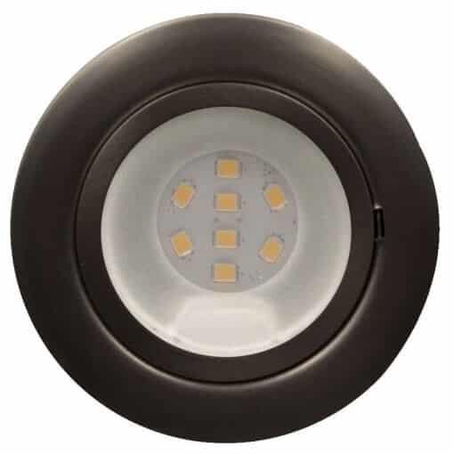 12/24v CAB8 downlight Satin Chrome finish with replaceable 8 LED bulb, 12v/24v