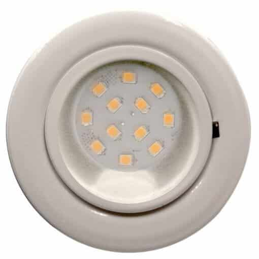 CAB12 downlight White finish with replaceable 12 LED bulb, 12v/24v