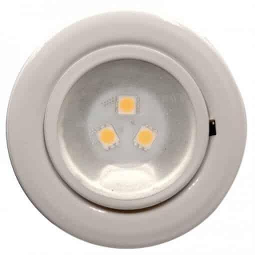 24v or 12v downlight White finish Light with 3 LED