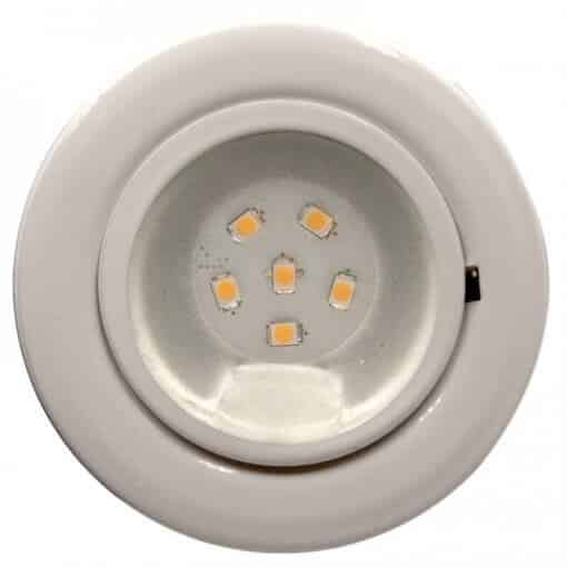 CAB6 downlight Chrome finish with replaceable 6 LED bulb, 12v/24v