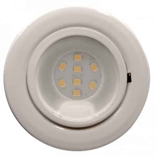CAB8 downlight White finish with replaceable 8 LED bulb, 12v/24v