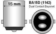 BA15D Dual Contact Level Pins