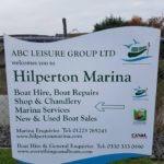 Hilperton Marina Sign